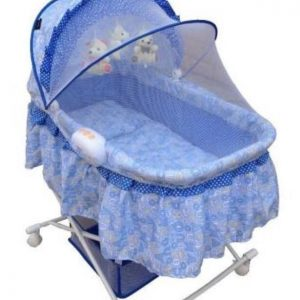BABY BED OVAL 608CN BLUE