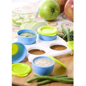 NUBY 4PACK SNACK POTS IN TRAY