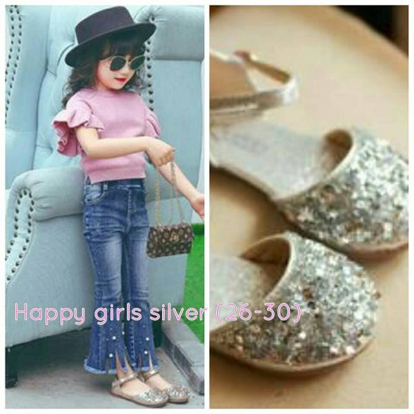 HAPPY GIRL SILVER SHOES