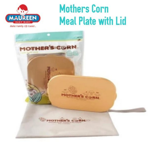 MOTHERS CORN MEAL PLATE WITH LID