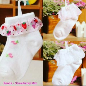 RENDA STRAWBERRY SOCKS