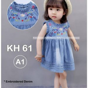 DRESS KUTUNG JEANS BORDIR BUNGA